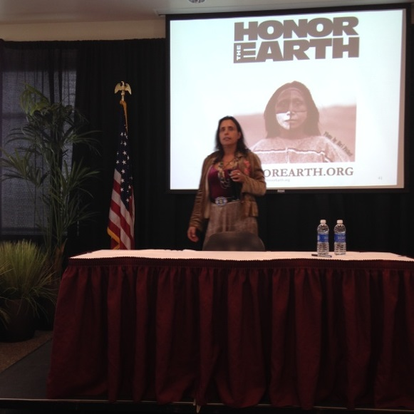 Winona LaDuke encourages activism