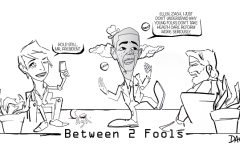 Editorial Cartoon Cartoon – Between two fools