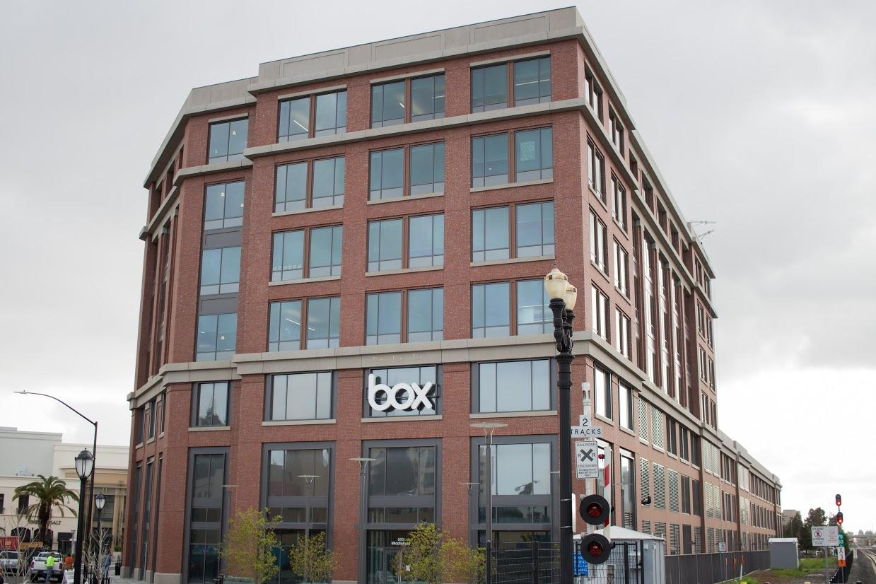 Box headquarters located next to the Caltrain station in Redwood City.