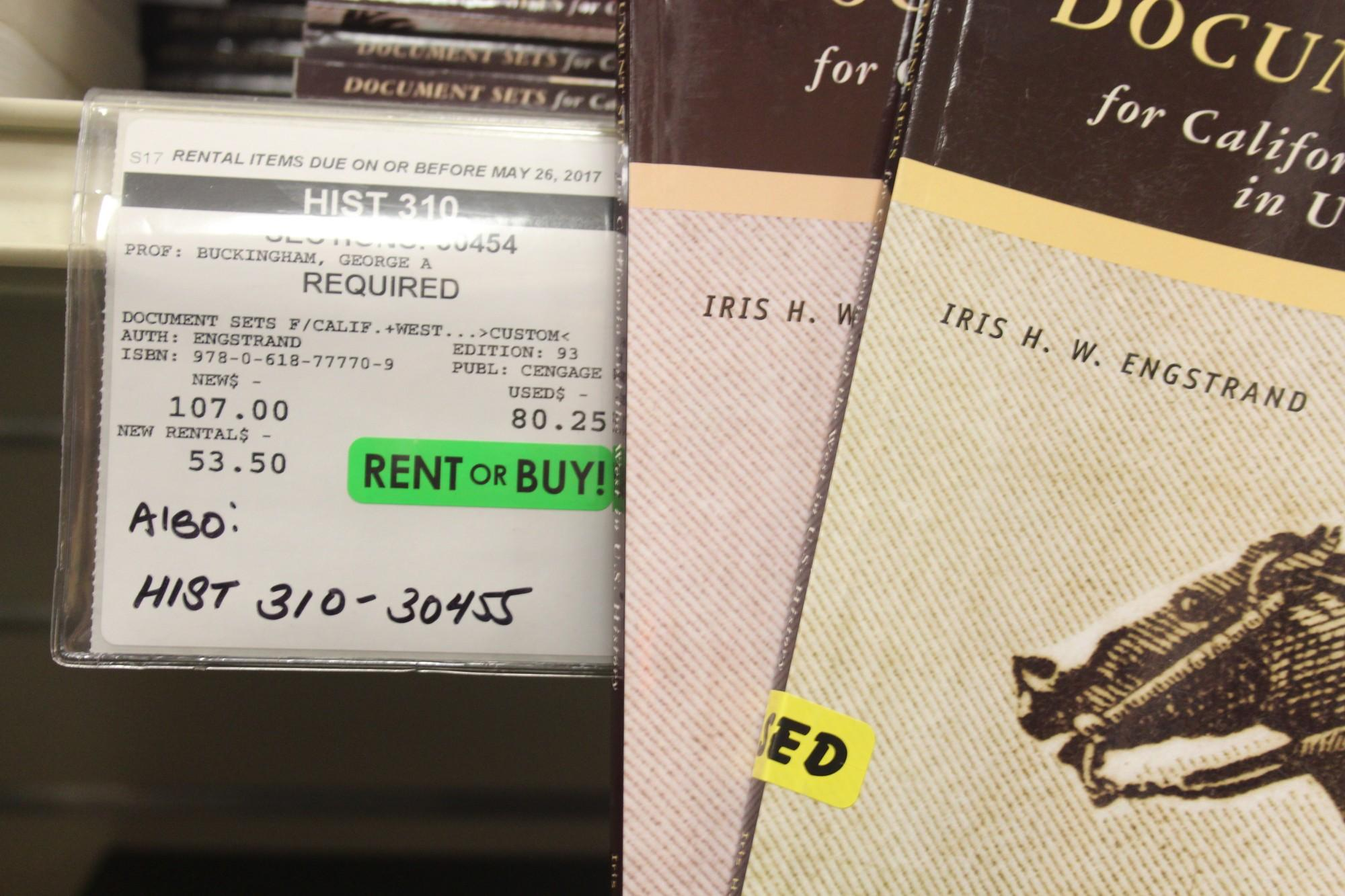 It's usually about half the price to rent a book instead of purchasing it new. Photo credit: Brian Silverman