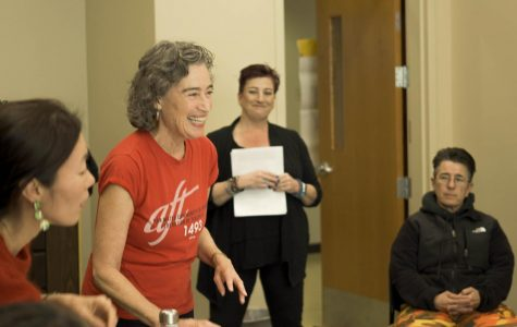 Katherine Harer, Vice President is seen at Union Solidarity hour on Feb. 5 building 6.