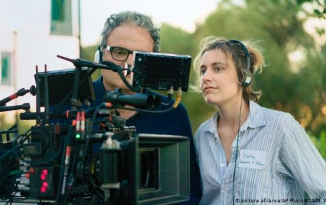 Gerwig on the set of Lady Bird, which has won five Oscar nominations.