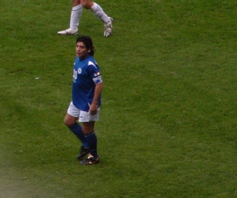 Diego Maradona playing for the Rest of the World at Old Trafford. (Creative Commons)