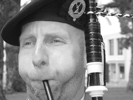 Though he has been playing the bagpipes on and off since he was a kid, Brian Molver began playing seriously in 1998.  (Neill Herbert)