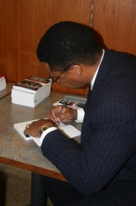 Dr. Firpo Carr at the book-signing ()