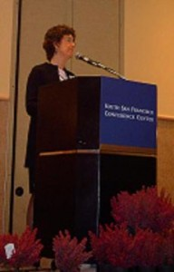 Victoria Morrow spoke at the 6th Annual President's Breakfast, held at the South San Francisco Conference Center. ()