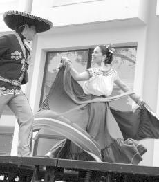 Albert Mendoza and Hilda Fernandez performed folkloric dances at the May 3. Cinco de Mayo celebration. (Frank Romero/ Staff Writer)
