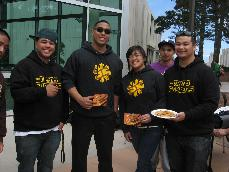 Members of the Filipino club working at their food fair. (Brenda Cancino)