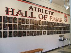 Hall of Fame Wall up at Skyline