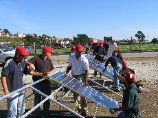 Skyline students learn to install and maintain solar arrays like the one in this picture. (Curtosey of Omer B. Thompson)