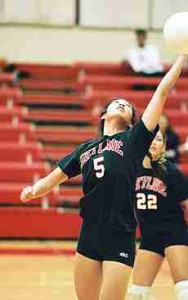 Freshman Lily Bandong topped all Skyline spikers in 2002 wih 1.9 kills per game. ()