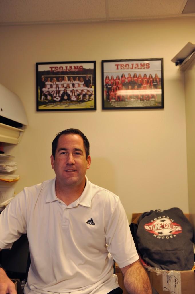 Women's Soccer Coach Kevin Corsiglia (David Evans)