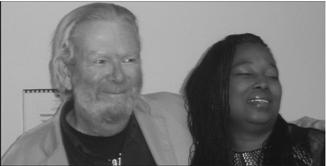 Skyline professor Michael Moynihan with Nombuso Ndomo.