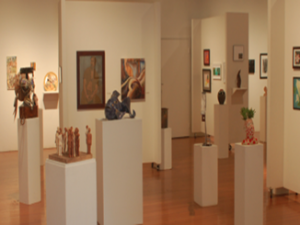 The gallery showcased over 110 student artworks.