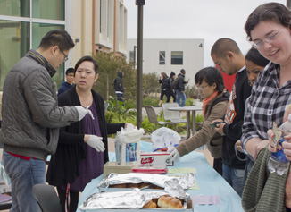 The Asian Food Festival attracted students around campus.