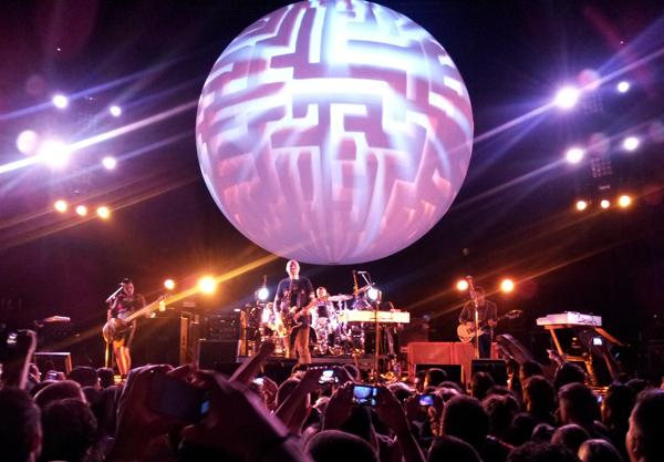Corgan and crew rocked out the Bill Graham Civic Auditorium on Oct. 12.
