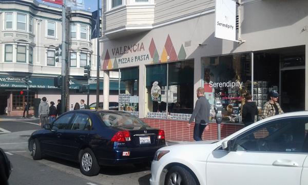 Valencia Pizza & Pasta located in the Mission District.