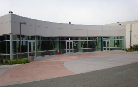 The front of building 6 at Skyline College.