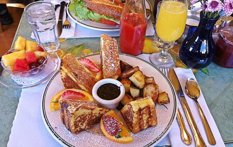 The Grilled Chicken Sandwich and the Famous Monte Cristo Sandwich at Mama's in the North Beach District.