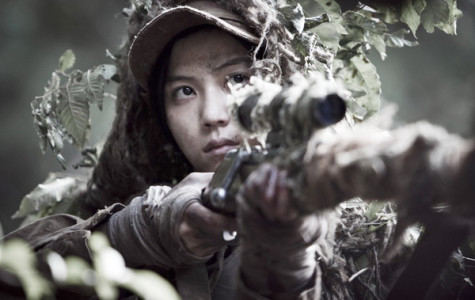 North Korean sniper Cha Tae-Kyung (played by Kim Ok-Vin) on the lookout for targets.