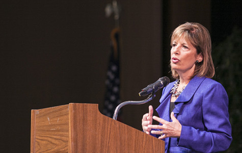Congresswoman Jackie Speier addressed the Skyline College community in a town hall format.
