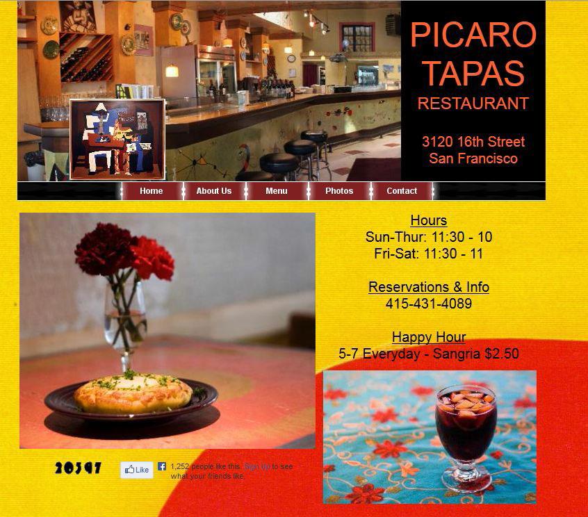 A+screenshot+of+the+restaurant+main+website.