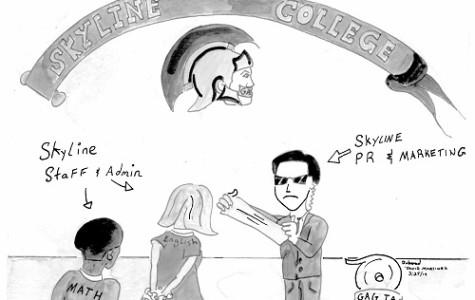 Editorial Cartoon - Skyline College media policy