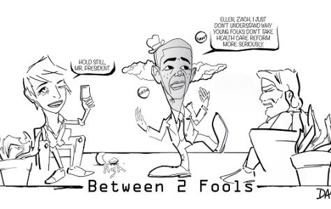 Editorial Cartoon Cartoon - Between two fools