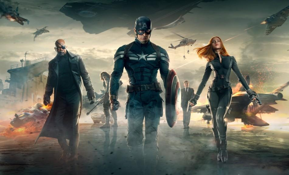 Chris Evans is joined by Scarlett Johansson and Samuel L. Jackson in the latest Captain America and entry and battle Sebastian Stan's The Winter Soldier.