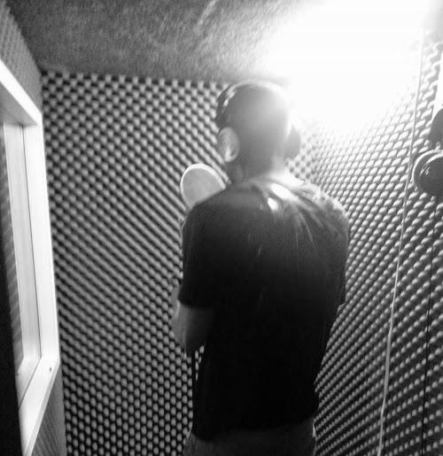 Aaron Amor in the recording studio. April 30, 2014. Photo credit: David  Perez