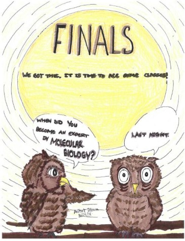 Editoral Cartoon: Finals