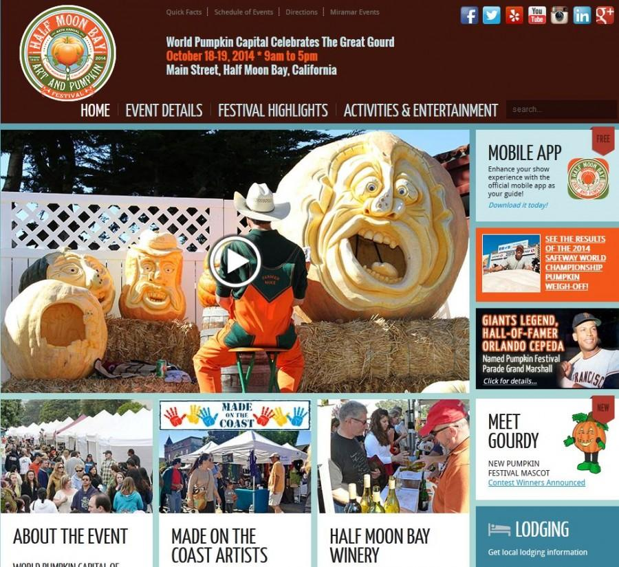 A screenshot of the festival website.