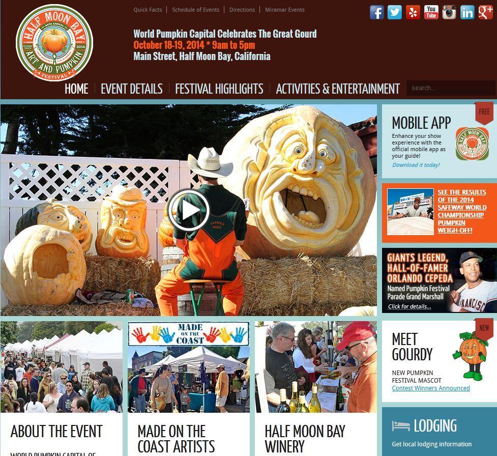 A screenshot of the festival website.