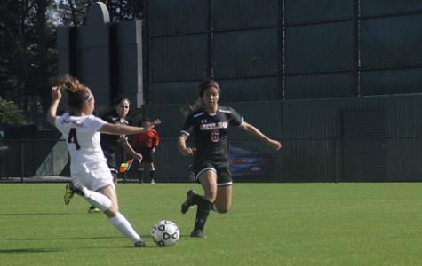 Women's soccer team go toe to toe against Las Positas College.