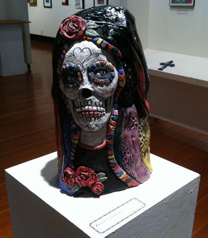 One of the artworks on display in the Skyline College Gallery during the
