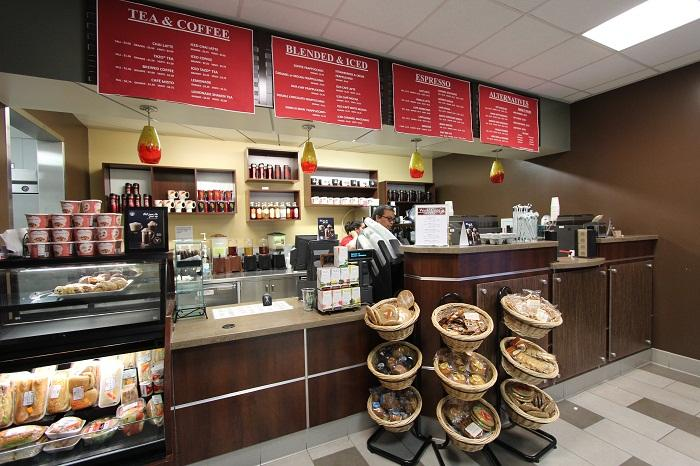 A photo of the Skyline College coffee shop.
