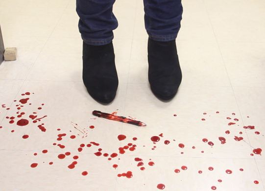 feet and blood
