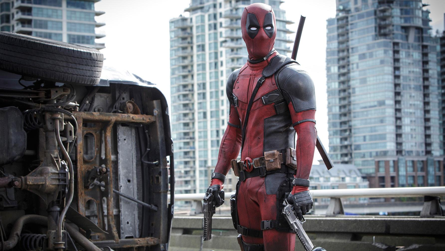 "Deadpool himself on standby awaiting his nemesis- in new released movie ""Deadpool."""