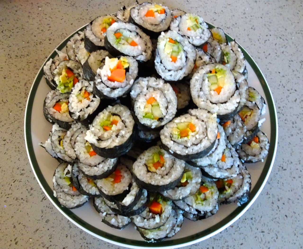 It's easy to make a lot of sushi, with only a few ingredients.