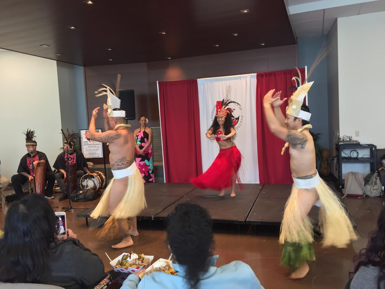 Performers dancing at fireside dining during Polynesian Lu'au on April 26, 2017 Photo credit: Mintzhet Tan