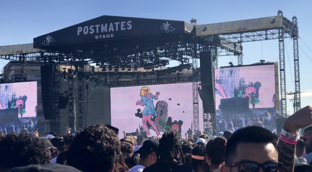 Postmates stage at Day N Night music festival.