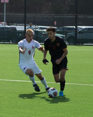 Men's soccer team ends in a draw