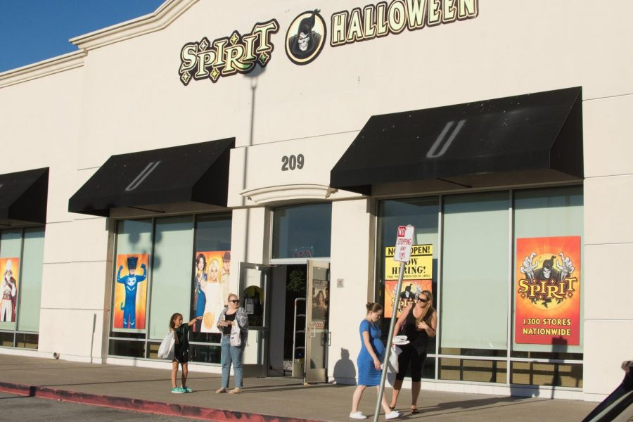 Shoppers seen leaving the Spirit Store at Tanforan Shopping Center on Oct. 25, 2017.
