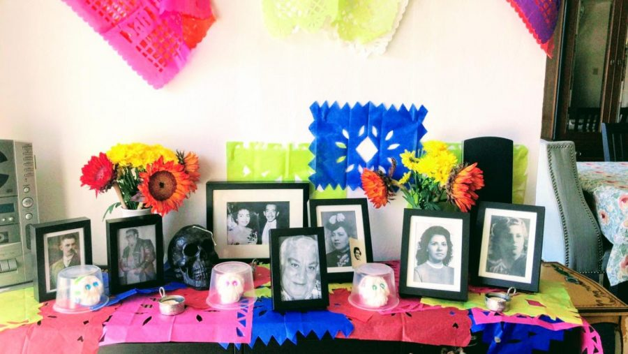 A simple and traditional altar for the day of the dead celebration. Photo credit: Maria Isabel Del Castillo Schmidhuber