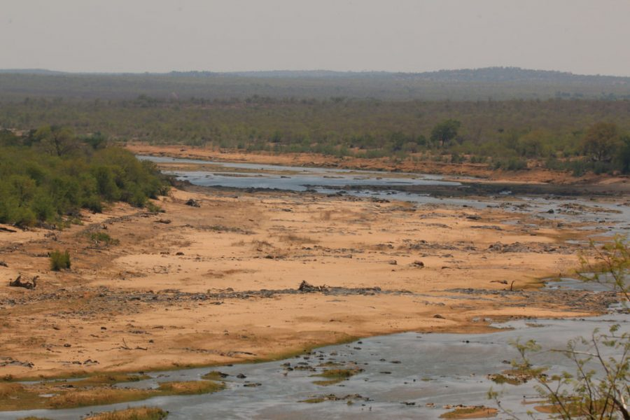 The Olifants River in South Africa nearly empty in 2015.