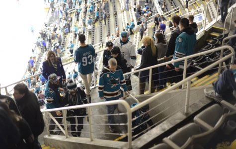 Fans at the San Jose SAP center on April 5, 2018.