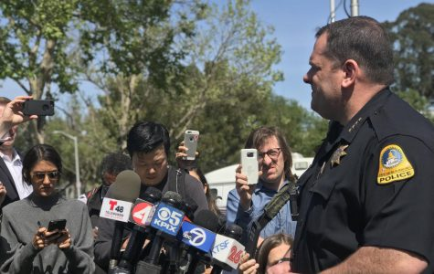 San Bruno Police Chief Ed Barberini gives updates following the YouTube Headquarters shooting on April 3, 2018.