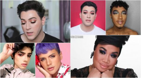 Men wearing makeup in the media