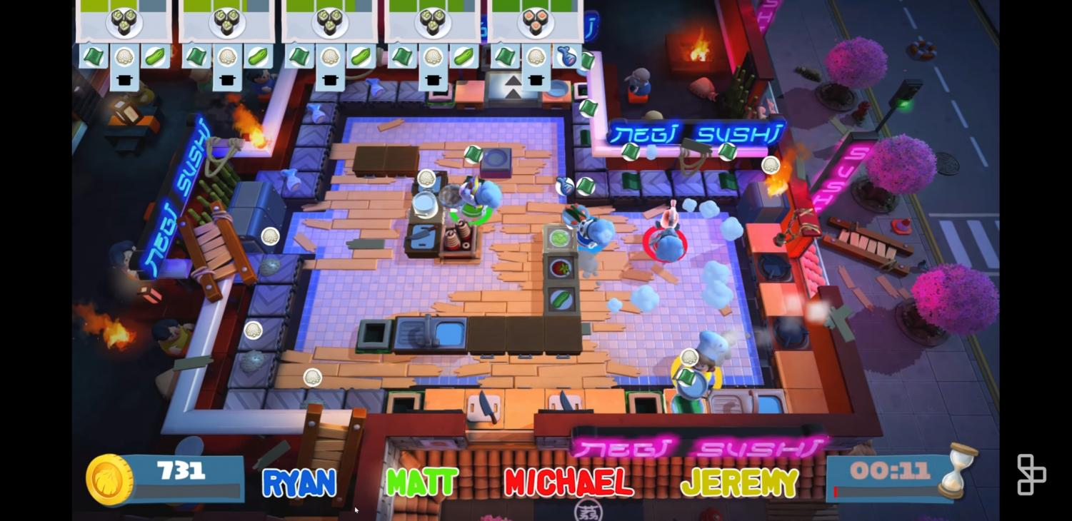 Achievement Hunter, an internet gaming group, plays a pre-release version of Overcooked 2 for a video that was released on June 12, 2018