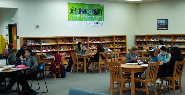 Students study in Skyline College library on Dec. 5, 2018.